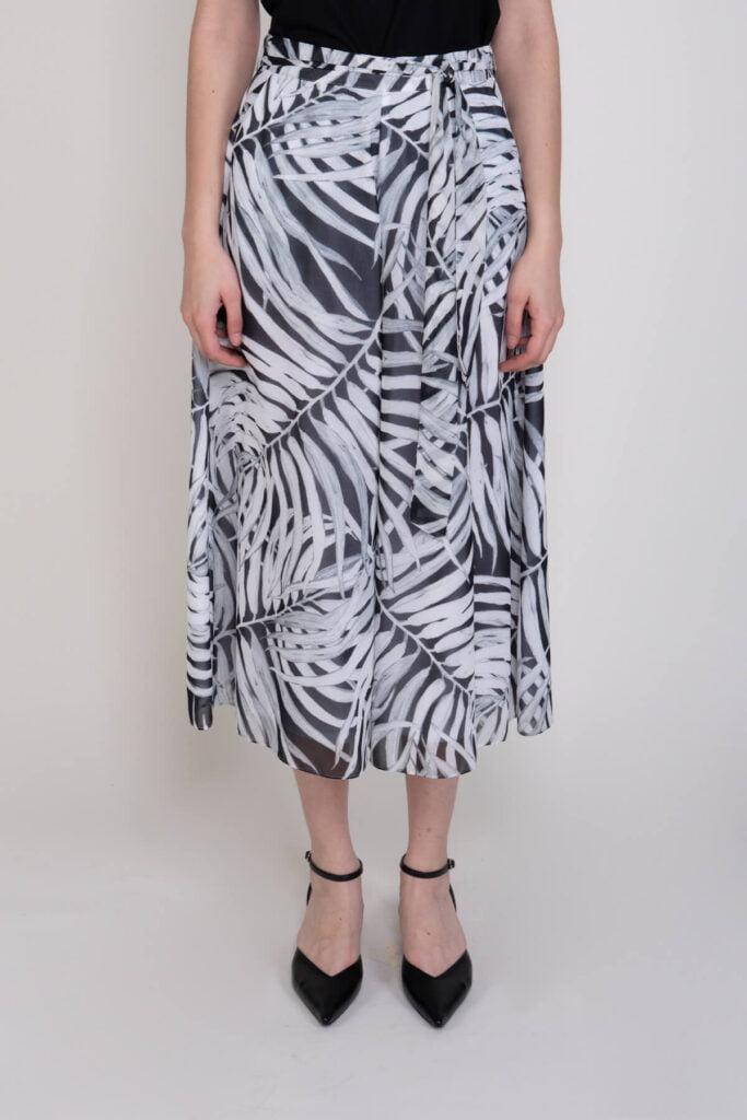 Etek Görünümlü Kemer Detaylı Kadın Pantolon 2317