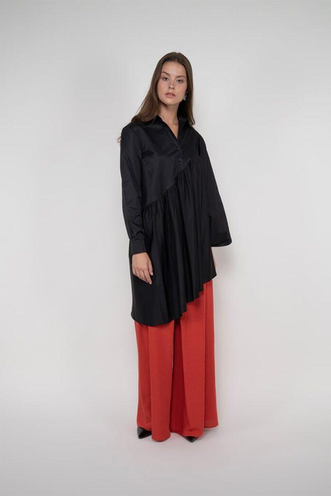 Sembol %100 Pamuk Pelerin Görüntülü Kadın Gömlek 189902